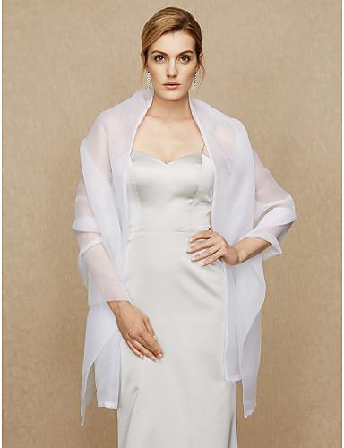 cheap Wedding Wraps-Shawls Organza Wedding / Party / Evening Women's Wrap With Beading