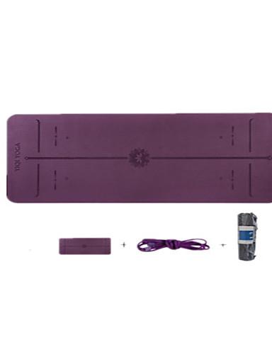 povoljno Vježbanje, fitness i joga-Fitness Mat Non Slip TPE Tirkiz Za Deep Purple Tirkiz Svjetlo ljubičasta