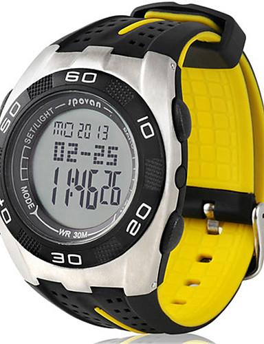 e48a02d60bd Pánské Digitální hodinky Digitální Výškoměr Voděodolné Krokoměr Svítící  Pryž Kapela Černá žlutá 6139623 2019 –  61.99