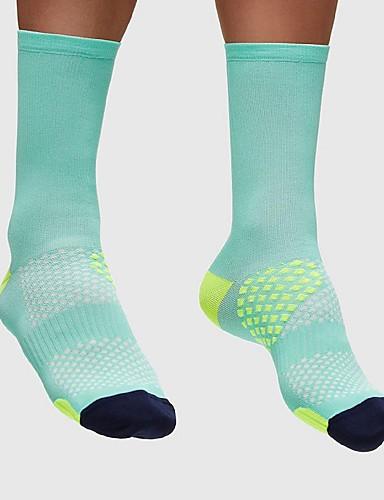 povoljno Odjeća za vožnju biciklom-Kompresija čarape Sport čarape / atletske čarape Biciklističke čarape Muškarci Žene Trčanje Biciklizam / Bicikl Bicikl / Biciklizam Mala težina Anatomski dizajn Prozračnosti 1 par Najlon Spandex