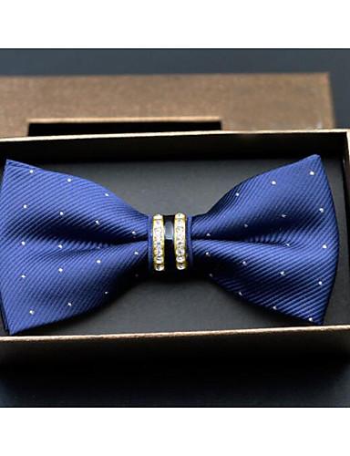 זול עניבות ועניבות פרפר לגברים-עניבת פפיון - נקודות, פוליאסטר בגדי ריקוד גברים