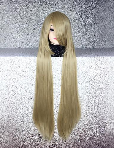 levne Cosplay paruky-Cosplay cosplay Cosplay Paruky Pánské Dámské 32 inch Horkuvzdorné vlákno Kávová Anime