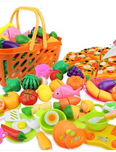 cheap Kids' Dress Up & Pretend Play-Toy Kitchen Set Toy Food / Play Food Pretend Play Vegetables Fruit Fruits & Vegetables Simulation Plastics Kid's Girls' Toy Gift