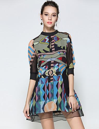 preiswerte MAXLINDY®-Damen Ausgehen Retro / Street Schick / Anspruchsvoll Etuikleid Kleid Solide Übers Knie Ständer