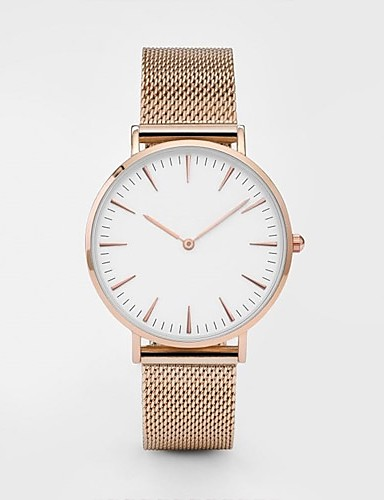cheap Fashion Watches-Men Women Wrist Watch Gold Watch Quartz Stainless Steel Black / Silver / Gold Casual Watch Analog Ladies Casual Fashion Minimalist - Black Rose Gold Gold / White One Year Battery Life
