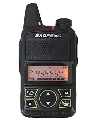 cheap Clearance Deals-BAOFENG Intercom T1 Mini Handheld Two Way Walkie Talkies 400-470MHz PC Software Programmable Power Saving Function 20 Memory Channels 5KM-10KM with Headsets Portable Black