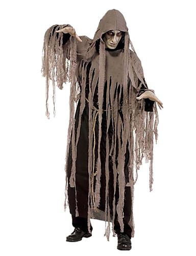 povoljno Maske i kostimi-Grim Reaper Cosplay Nošnje Odrasli Muškarci Halloween Karneval Dan mrtvih Festival / Praznik Elastan Tactel Braon Karneval kostime Vintage