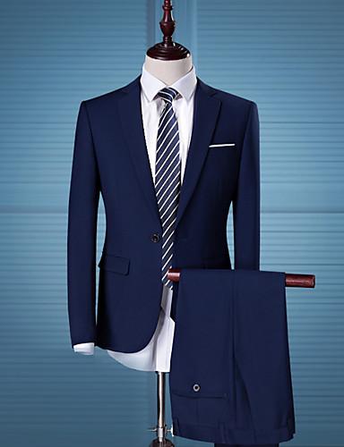 costumes homme couleur pleine business mince de 5520507 2018. Black Bedroom Furniture Sets. Home Design Ideas