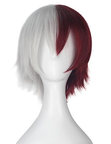 povoljno Anime cosplay-Moj junak Akademija / Boku Nema heroskih akademija Todoroki Shoto Cosplay Wigs Muškarci Žene 12 inch Otporna na toplinu vlakna Anime