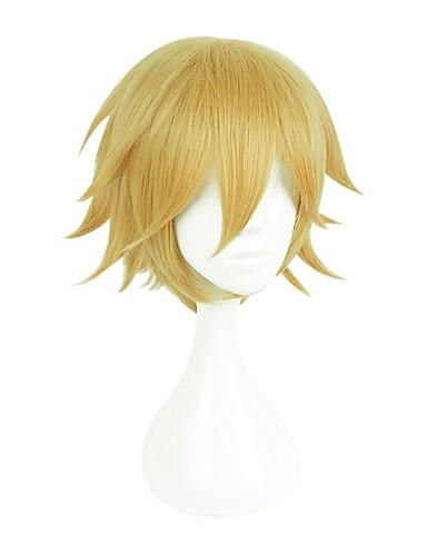 levne Cosplay paruky-Kingdom Hearts cosplay Cosplay Paruky Pánské Dámské 14 inch Horkuvzdorné vlákno Zlatá Anime