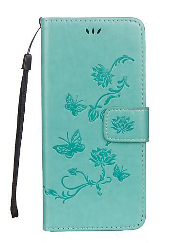tok Για Samsung Galaxy S8 Plus / S8 / S7 edge Πορτοφόλι / Θήκη καρτών / με βάση στήριξης Πλήρης Θήκη Πεταλούδα / Λουλούδι Σκληρή PU δέρμα