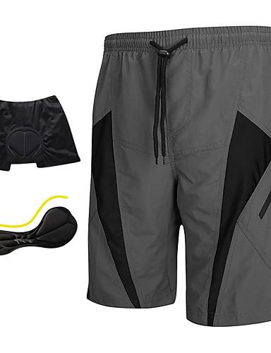 povoljno Odjeća za vožnju biciklom-SANTIC Muškarci Biciklističke kratke hlače s jastučićima - Siva Kolaž Klasika Bicikl Kratke hlače Podstavljene kratke hlače Kratke hlače za MTB, Prozračnost Pad 3D Quick dry Poliester Spandex