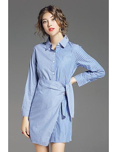 a91b4fe318fd Γυναικείο Καθημερινά Απλό Πουκάμισο Φόρεμα