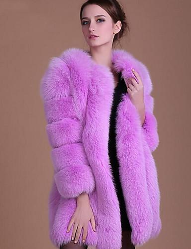 7bf0982fa88 Women s Fall   Winter Plus Size Long Fur Coat