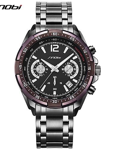 SINOBI Pánské Náramkové hodinky Módní hodinky čínština Křemenný Kalendář  Chronograf Velký ciferník Kov Kapela Luxus Na běžné nošení Cool 6139414  2018 – ... a4ed0014f5