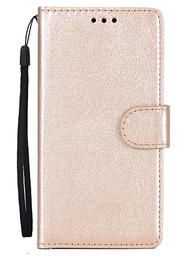 Capinha Para Huawei P10 Plus / P10 Lite / P10 Carteira / Porta-Cartão / Com Suporte Capa Proteção Completa Sólido Rígida PU Leather