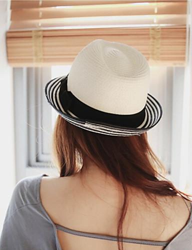 Mujer Lazo   Color puro Sombrero de Paja   Sombrero para el sol - Sombrero    Vacaciones Un Color 6183248 2019 –  12.99 42ad76a2cec