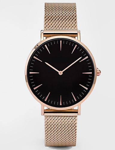 871e858e3f2 Mulheres Relógio Esportivo Relógio Elegante Relógio de Pulso Quartzo Preta    Prata   Dourada Impermeável Criativo Analógico senhoras Amuleto Clássico  Casual ...