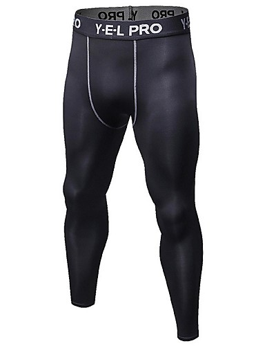 cheap Massive Clearance Sale-Men's Running Tights Leggings Compression Pants Athletic Base Layer Compression Clothing Tights Elastane Fitness Gym Workout Exercise Lightweight Breathable Quick Dry Sport White Black Red Blue Fruit