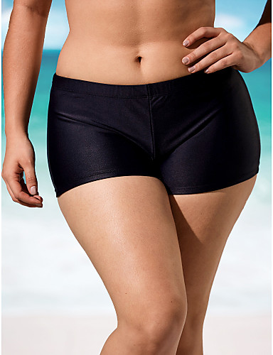 d1f269ba81 Women's Swim Shorts , Solid Nylon/Spandex Pink/Blue/Red/Black 2055427 2019  – $12.99