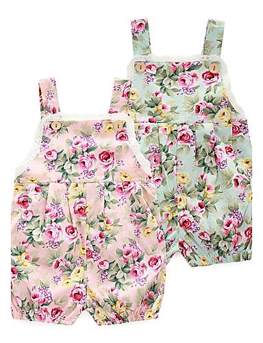 preiswerte Die besten Strampelanzüge-Baby Mädchen Blumig Blumen / Modisch Druck Ärmellos Einzelteil Rosa