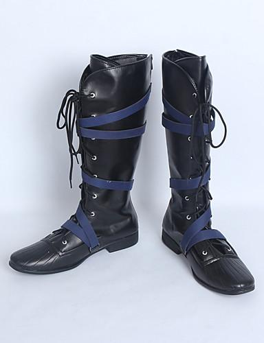 povoljno Anime cosplay-Cosplay Shoes Cosplay Boots Cosplay Cosplay Anime Cosplay Shoes PU koža Umjetna koža/Polyurethane Leather Odrasli Uniseks