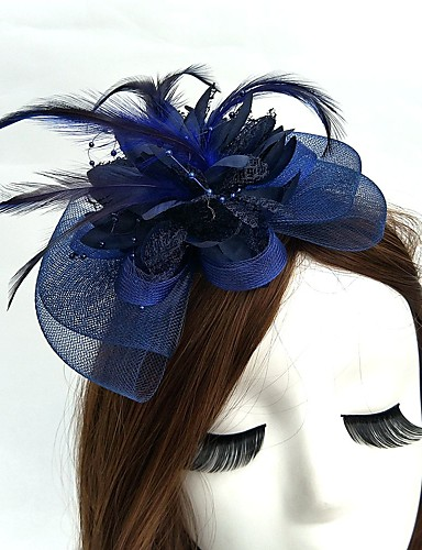 cheap Women's Clothing-Net Fascinators / Hats / Headwear with Floral 1pc Wedding / Special Occasion Headpiece