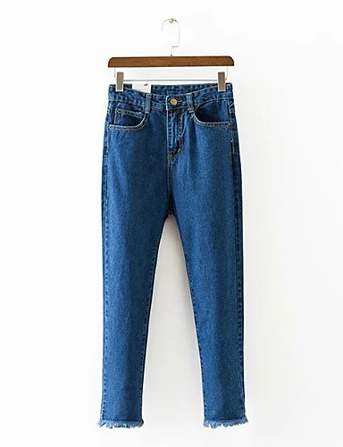 Women's Mid Rise Micro-elastic Skinny Harem Jeans Pants,Street chic Solid Spring Summer Fall
