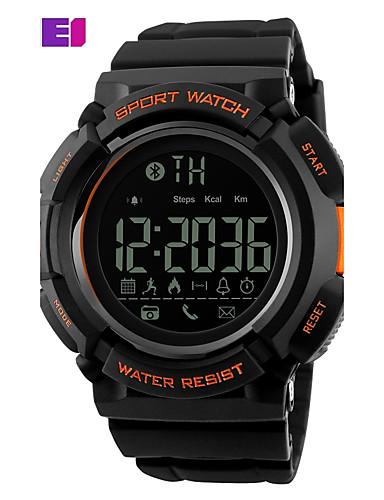 SKMEI Homens Relógio Esportivo Relógio de Moda Relógio de Pulso Digital Couro PU Acolchoado Preta Digital Preto Laranja Azul