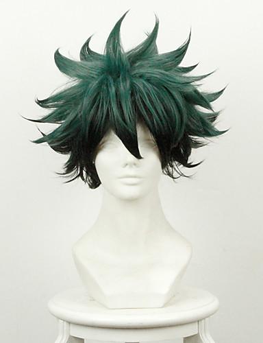 povoljno Anime cosplay-Moj heroj Akademija Battle For All / Boku nema heroja Academia Midoriya Izuku Cosplay Wigs Muškarci 14 inch Otporna na toplinu vlakna Anime