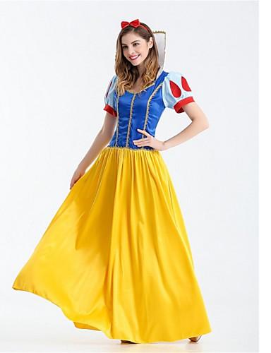 povoljno Maske i kostimi-Princeza Snijeg Cosplay Nošnje Halloween Festival / Praznik Polyster Bijela Karneval kostime Moda