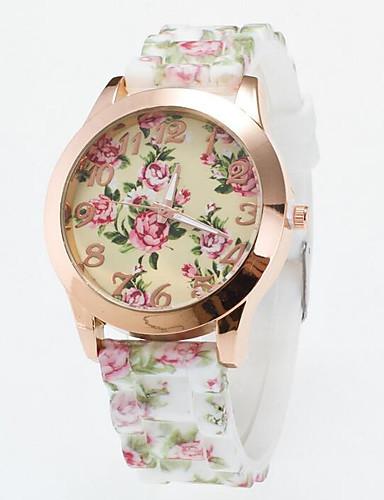 Dámské Náramkové hodinky Křemenný Silikon Kapela Květiny Černá Bílá Modrá  Zelená Fialová Rose 6198679 2019 –  8.99 b466603c43