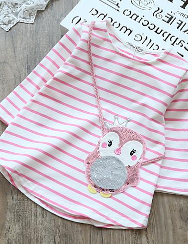 preiswerte Mach mit bei der tierischen Party-Baby Mädchen Streifen Langarm Baumwolle Bluse Leicht Blau