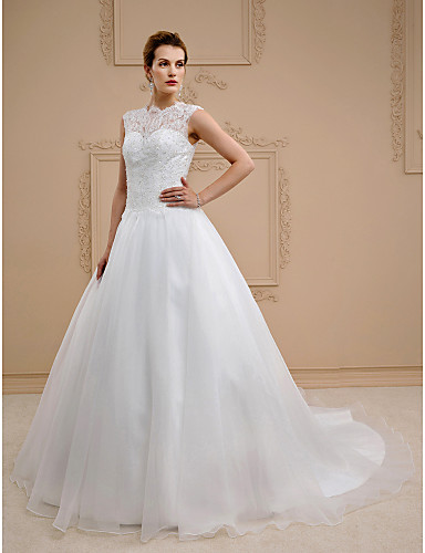 6e6349514 Salón Joya Capilla Encaje   Organza Vestidos de novia hechos a ...