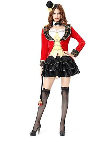 povoljno Maske i kostimi-Cirkus direktor cirkusa Cosplay Nošnje Halloween Festival / Praznik Polyster Karneval kostime Moda Vintage