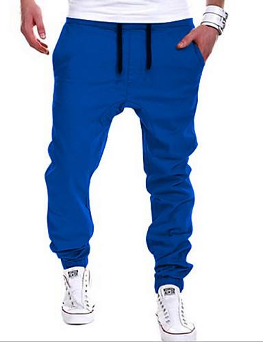 cheap 11.11 - Men's Pants & Shorts Best Seller-Men's Active / Street chic Daily Sports Going out Harem / Sweatpants Pants - Solid Colored Khaki Light gray Royal Blue XL XXL XXXL / Weekend