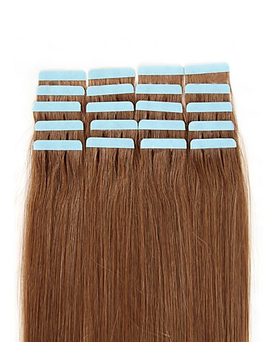 povoljno Ekstenzije-Febay S ljepljivom trakom Proširenja ljudske kose Ravan kroj Ljudska kosa Ekstenzije od ljudske kose 1 paket Nano Žene Blonde