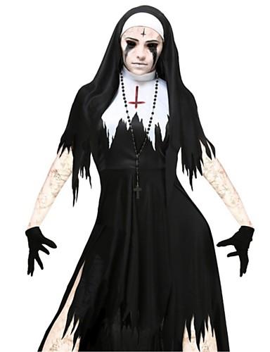 povoljno Maske i kostimi-Bloody Mary Haljine Odrasli Halloween Dan mrtvih Festival / Praznik Polyster Karneval kostime Vintage
