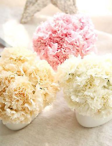 preiswerte Bettwäsche-Sets & Kopfkissen-Künstliche Blumen 6 Ast Europäisch Nelken Tisch-Blumen