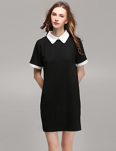 Camicia Da donna Per uscire Romantico Monocolore Colletto