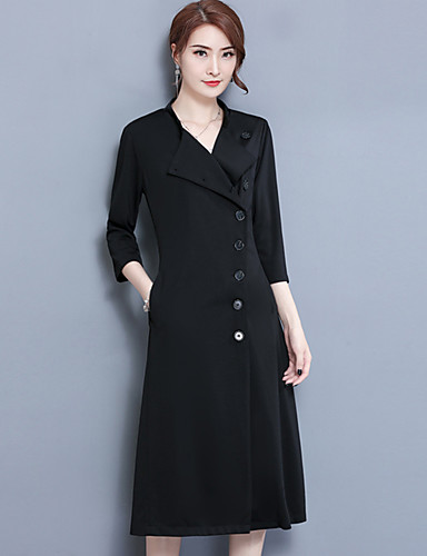 bd3bdae4400 Women s Plus Size Sheath Dress - Solid Peter Pan Collar 6200990 2019 –   28.34