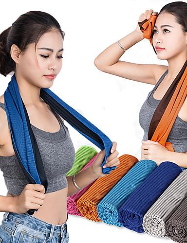 povoljno Vježbanje, fitness i joga-Ručnik za rashlađivanje Ovlaživanje Odor Free Prijenosno Spandex najfiniji vlakana za 30.0*100.0*1.0 cm Crvena Sky blue Zelen