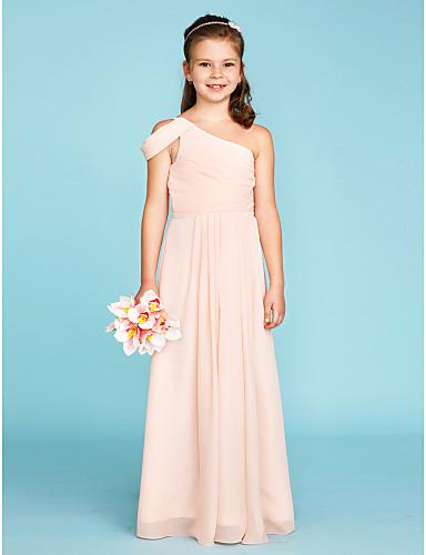 One Shoulder Junior Bridesmaid Dresses