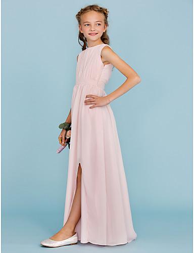 Sheath / Column, Junior Bridesmaid Dresses,