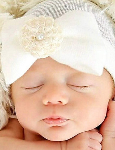 cheap Top Sellers-Newborn Cotton chambray Hair Accessories White / Pink / Light Blue One-Size / Hair Tie