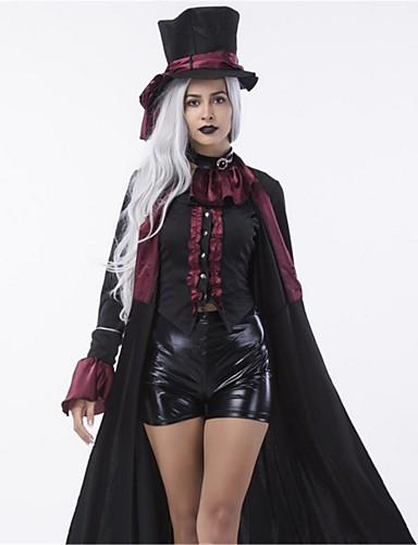 povoljno Maske i kostimi-direktor cirkusa Cosplay Nošnje Odrasli Halloween Festival / Praznik Polyster Karneval kostime Moda Vintage