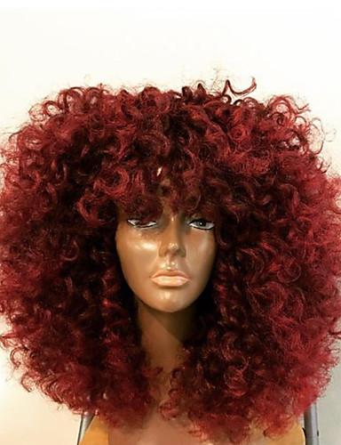 povoljno Perike s ljudskom kosom-Ljudska kosa Lace Front Perika Stepenasta frizura S mldom kosom stil Brazilska kosa Kinky Curly Perika 130% Gustoća kose Srednji dio Prirodna linija za kosu Afro-američka perika 100% Djevica Žene