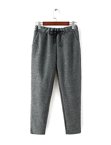Pantalones Mujer Ajustado Microelástico un Color Chinos Otro q8r8wF
