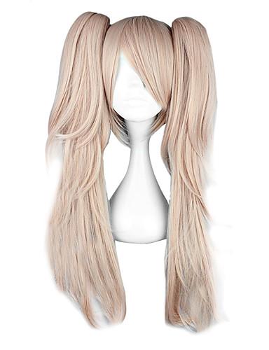 cheap Videogame Cosplay-Dangan Ronpa Junko Enoshima Cosplay Wigs Women's 26 inch Heat Resistant Fiber Anime