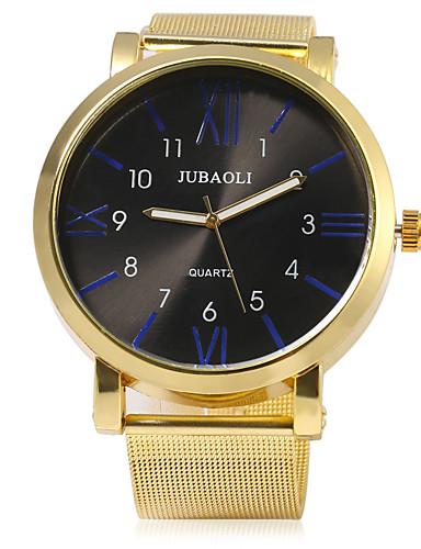 JUBAOLI Homens Relógio Esportivo Relógio Militar Quartzo Metal Dourada Dois Fusos Horários Legal Analógico Relógio Criativo Único Aristo - Laranja Azul Escuro Vermelho